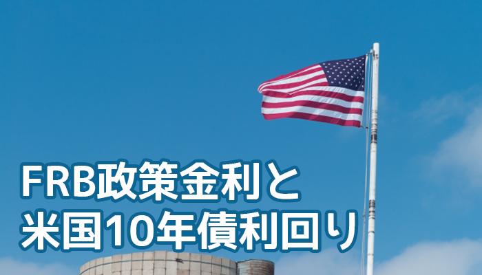 FRB政策金利と米国10年債利回り