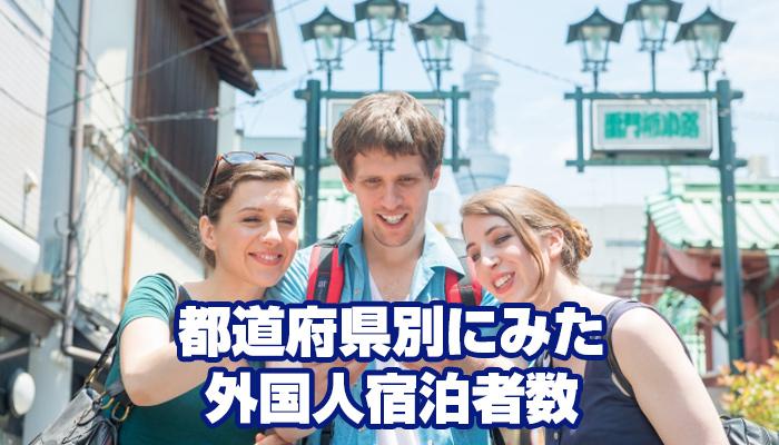 都道府県別にみた外国人宿泊者数