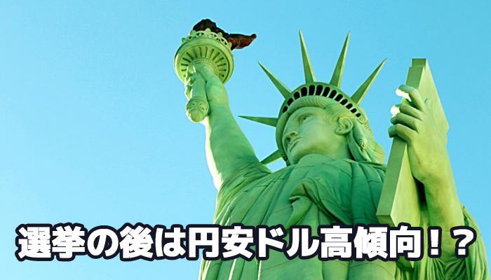 中間選挙・大統領選挙の後は円安ドル高傾向!?